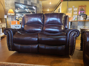 0999 Fi-ChM Top Grain Leather Powered Sofa and Loveseat w/ Adj. Headrest