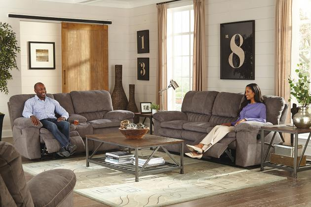 351fiCnJ Power Lay Flat Reclining Sofa and Loveseat
