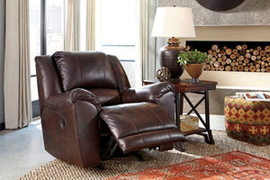 303fiA Leather Rocker Recliner