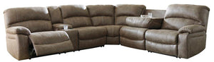 454 FI-A PWR Reclining  Sectional w/ Drop Down Table and Console
