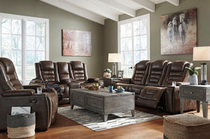 496 Fi-A Powered Sofa and Loveseat with Adjustable Headrest, Storage and Drop-down-table