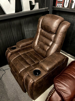 496 FI-A Power Recliner with Adjustable Headrest