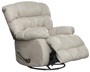 5324 FI-CnJ Leather Chaise Swivel Glider Recliner