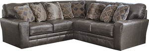 5489fiCnJ Italian Leather Sectional