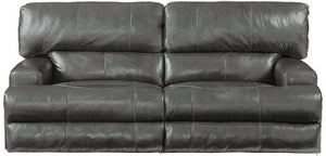 569fiCnJ Italian Leather Sofa w/ Power Headrest and Loveseat w/ Power Headrest