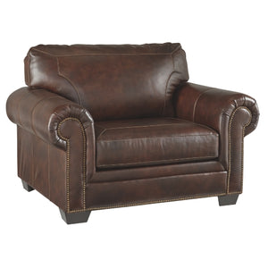 698 FI-A Leather Sofa and Loveseat