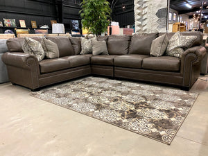 698 FI-A Leather Sectional