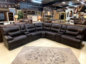 81159 FI-CHM Powered Leather Sectional