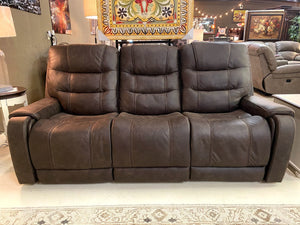 931 FI-A Powered Sofa Loveseat with Adjustable Headrest and Extended Ottoman