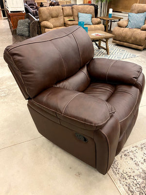 9736 FI-CHM Leather Reclining Sofa and Loveseat