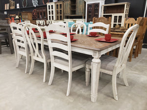 D854 FI-A Rectangular Extension Table with 8 Chairs
