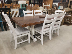 D657 FI-A Rectangular Dining Table with 6 Chairs