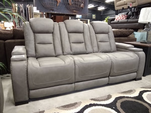 U964 FI-A Leather Reclining Sofa and Loveseat w/ PWR Adj. Headrest and Lumbar plus Wireless phone charger