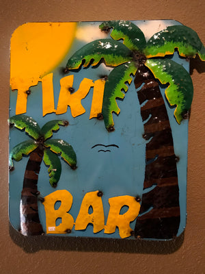 Metal Tiki Bar Sign Art