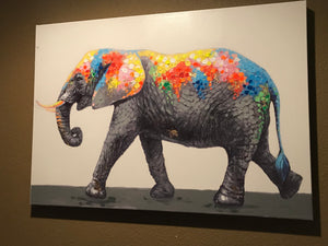 Gallery Wrap Elephant Canvas Art