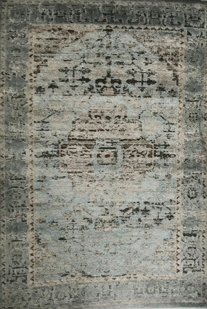 PM2668FIP Blue and Grey Rug 5 x 7