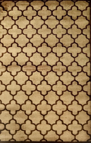 PM2968FIP Trellis 2 Beige and Brown Rug 5 x 7