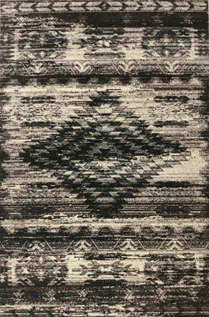 VT1392FIP Aztec Gray and Charcoal Rug 8' x 10'