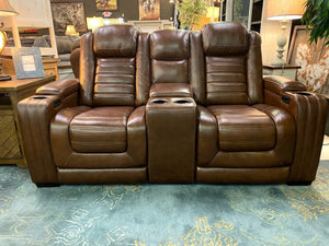 U391 FI-A Leather Powered Sofa and Loveseat with Heat and Massage