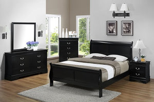 B4061 FI-CM Queen Sleigh Bed Set