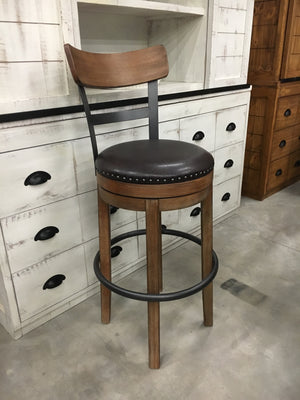 D653-235 FI-A Upholstered Swivel Barstool