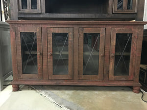 "14-3-58-523-ir FI 60"" Four Iron Glass Door Sideboard"