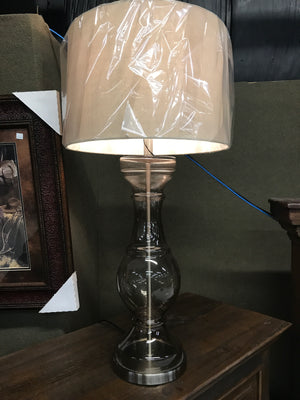 Lamp Glass with Brushed Nickle Base