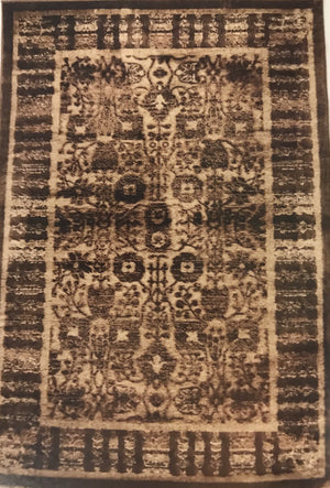 PM2492FIP Isphaphan Brown and Black Rug 8x10