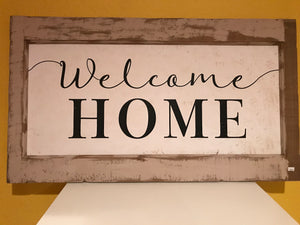Welcome Home Framed Wood Art