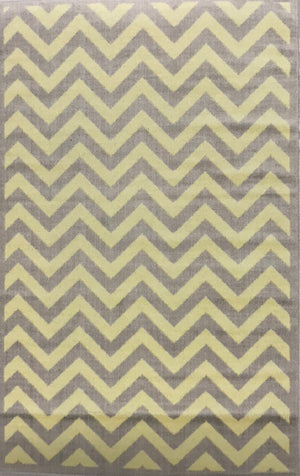 BC21458FIP Chevron Grey and Cream Rug 4x7