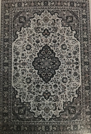 EM1568FIA Emerald Cream and Grey Rug 5x7