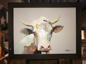 Cow Mosaic in Frame