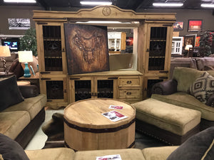 544FI Stars and Bars TV Entertainment Center Natural