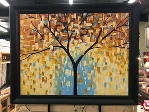 Framed tree with leaves Oil on Canvas Art