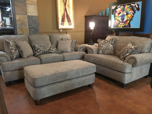 5558 Fi - CnJ Sofa and Loveseat Speckled Grey