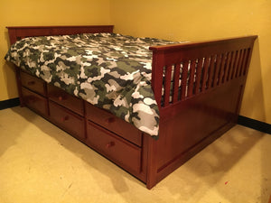 214 FE FI-D Full Missions Bed w/Trundle and Drawers