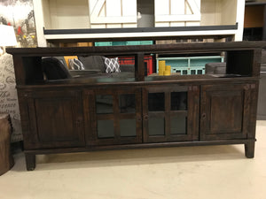"Com19FI 72"" TV Entertainment Stand Dark Brown"