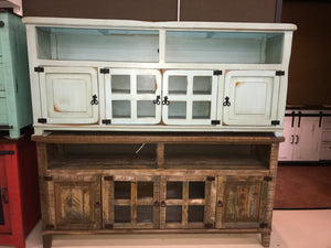 "Com19FI 60"" TV Stand Distressed White"