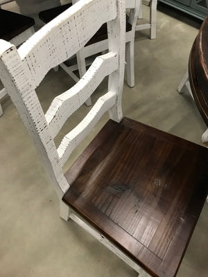 "LN MES 137-58FI 48"" Round Pedestal Table with 4 Florence Chairs"