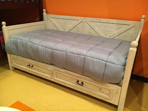 Cam2DBFI Daybed w/Storage Drawers Stressed White