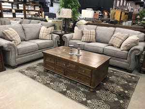 598 FI-A Sofa and Loveseat Gray