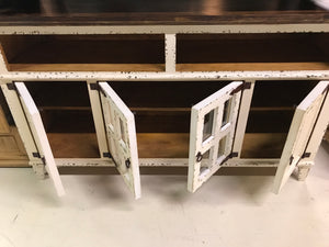 10-2-58-68FI Antique White 4 Door TV Stand