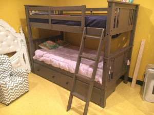 427TTSG FI-D Twin Grey Bunkbed with Storage