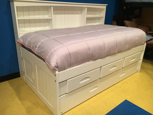 1333FI-D Twin Captains White Bed w/Trundle and Drawers