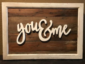 You & Me Wood Art