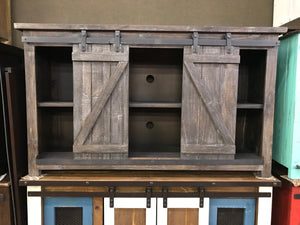 "JON981FI 60""TV Stand with Barn Doors Multi Island"