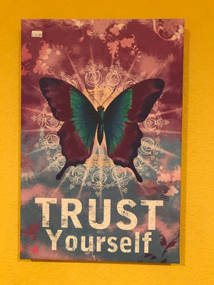 Canvas Butterfly Trust Fabulous Art