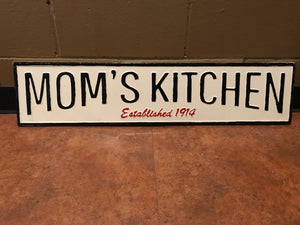 Mom's Kitchen Sign on Metal Art