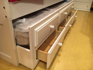 214TW FI-D Twin Mission in White w/Trundle and Drawers