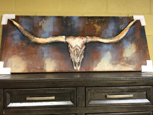 Metal Longhorns Art